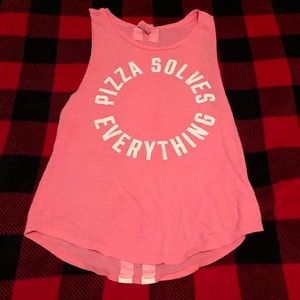 Victoria's Secret Pink Pizza Solves Everything Top